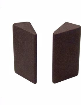Picture of BROWN CERAMIC TRIANGULAR STONE