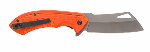 Picture of RALLY TITANIUM FINISHED CLEAVER BLADE - G10 BLAZE ORANGE